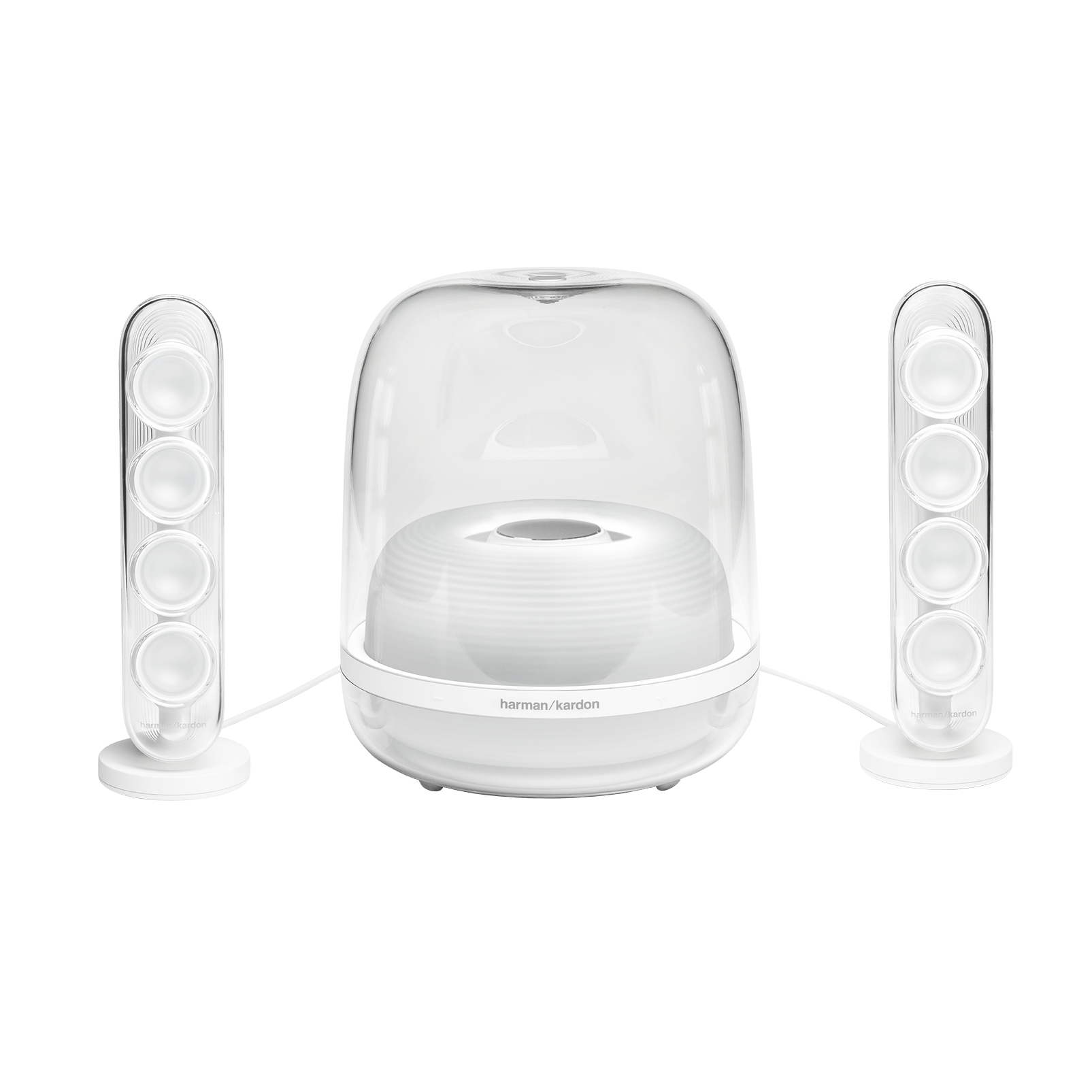 Harman Kardon SoundSticks 4 - White - Bluetooth Speaker System - Front